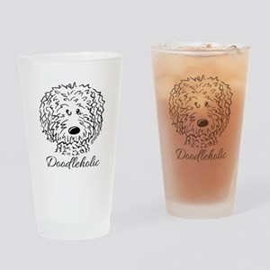 KiniArt Doodleholic Drinking Glass