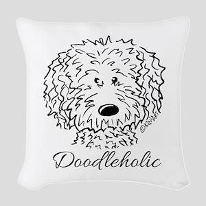 KiniArt Doodleholic Woven Throw Pillow