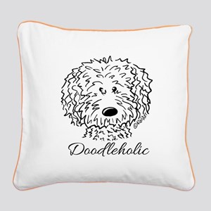 KiniArt Doodleholic Square Canvas Pillow