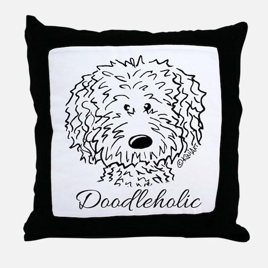 KiniArt Doodleholic Throw Pillow