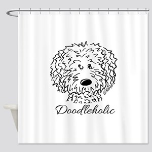 KiniArt Doodleholic Shower Curtain
