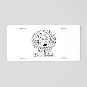 KiniArt Doodleholic Aluminum License Plate