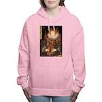 MP-QUEEN-Cav-Ruby7 Women's Hooded Sweatshirt