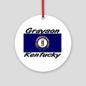 Grayson Kentucky Ornament (Round)