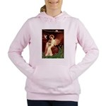 SFP-ANGEL1-Cav-Ruby7 Women's Hooded Sweatshirt