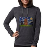 MP-STARRY-Cav-Ruby7 Womens Hooded Shirt