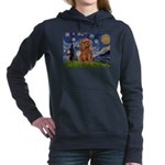 MP-STARRY-Cav-Ruby7 Women's Hooded Sweatshirt