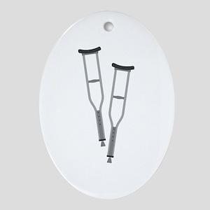 Crutches Oval Ornament