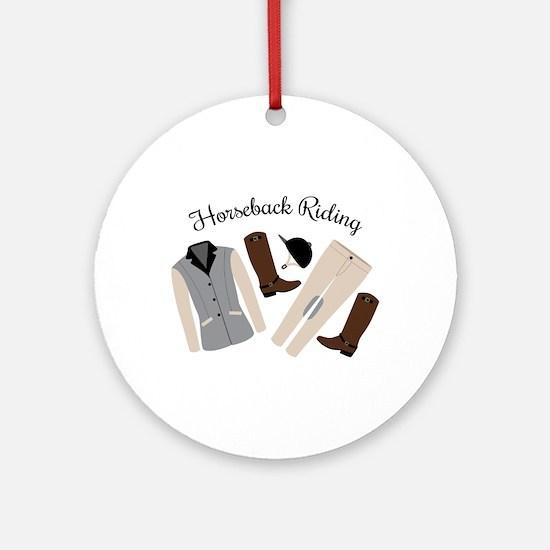 Horseback Riding Round Ornament