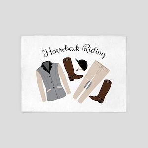 Horseback Riding 5'x7'Area Rug