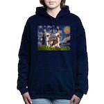 5.5x7.5-Starry-CrestedPR Women's Hooded Sweats