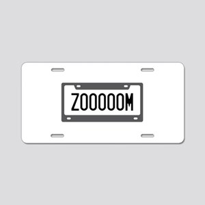 Zoom License Plate Aluminum License Plate
