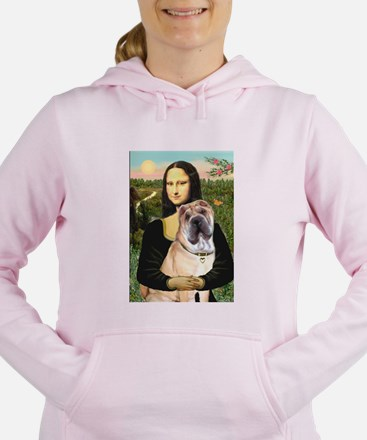 MP-MONA-Sharpei5.png Women's Hooded Sweatshirt
