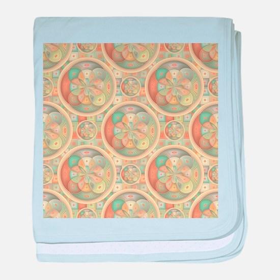 Complex geometric pattern baby blanket