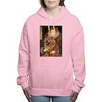 5.5x7.5-Queen-Chow1 Women's Hooded Sweatshirt