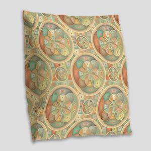 Complex geometric pattern Burlap Throw Pillow