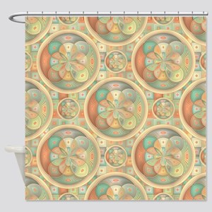 Complex geometric pattern Shower Curtain