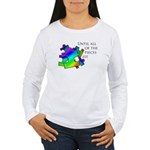 Autism pieces Women's Long Sleeve T-Shirt