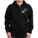 Autism pieces Zip Hoodie (dark)