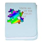 Autism pieces baby blanket