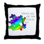 Autism pieces Throw Pillow