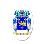 North 35x21 Oval Wall Decal