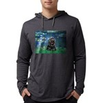 LILIES5-CockerBlk-C-red Mens Hooded Shirt