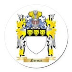 Norman Round Car Magnet