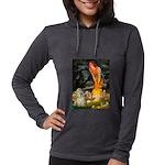 Cocker #9 - MidEve Womens Hooded Shirt