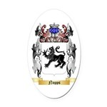 Nopps Oval Car Magnet