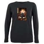 Cocker (black) - Queen Plus Size Long Sleeve T