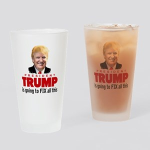 President Trump Fix Drinking Glass