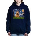 MP-STARRY-Cocker7 Women's Hooded Sweatshirt