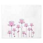 Pink flower design King Duvet