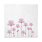 Pink flower design Queen Duvet