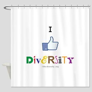 I Thumb Diversity Shower Curtain