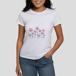 Pink flower design T-Shirt