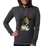 MP-OPH2-Collie-Tri3 Womens Hooded Shirt