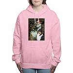 MP-OPH2-Collie-Tri3 Women's Hooded Sweatshirt