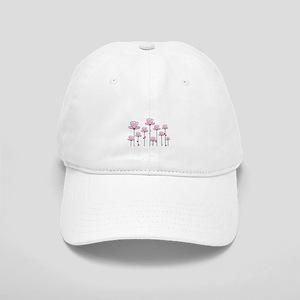 Pink flower design Hat