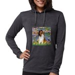 MP-Lilies2-Collie1 Womens Hooded Shirt