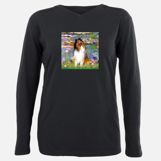 MP-Lilies2-Collie1.png Plus Size Long Sleeve Tee