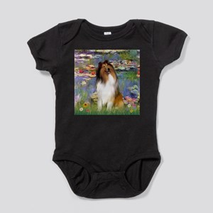 MP-Lilies2-Collie1 Baby Bodysuit