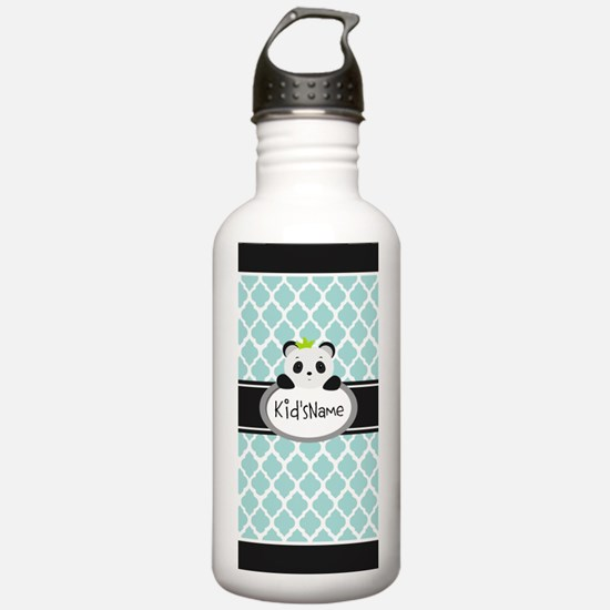 Mint Personalized Pand Water Bottle