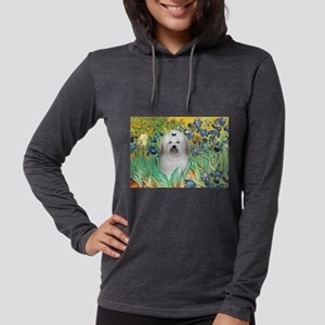 5.5x7.5-Irises-Coton2 Womens Hooded Shirt