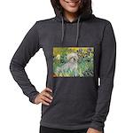 5.5x7.5-Irises-Coton7 Womens Hooded Shirt