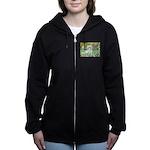 5.5x7.5-Irises-Coton7 Women's Zip Hoodie