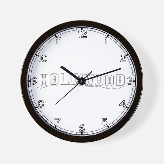 Hollywood Sign, CA Wall Clock