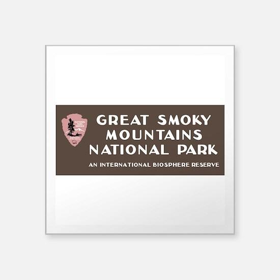 "Great Smoky Mountains Natio Square Sticker 3"" x 3"""