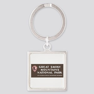 Great Smoky Mountains National Par Square Keychain
